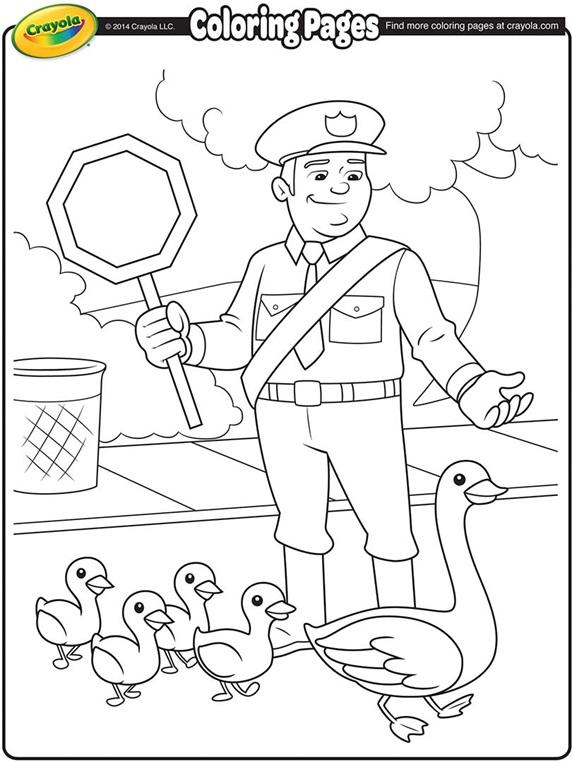 Traffic Police   crayola.com.au